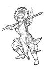 Disegno da colorare regina del fuoco