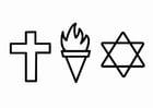 Disegno da colorare religione - etica