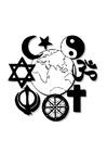 Disegno da colorare religioni del mondo