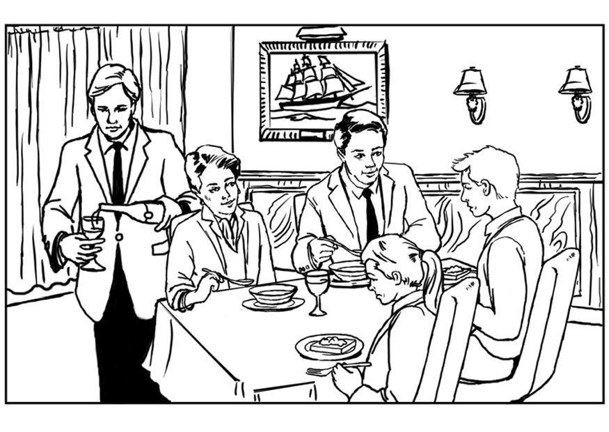 coloring pages french cafe - photo#19