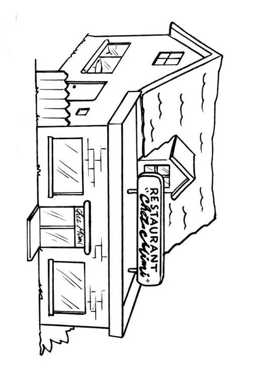 mikes restaurant coloring pages - photo#17