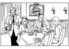 Disegno da colorare ristorante