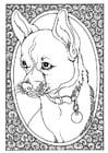 Disegno da colorare ritratto di cane