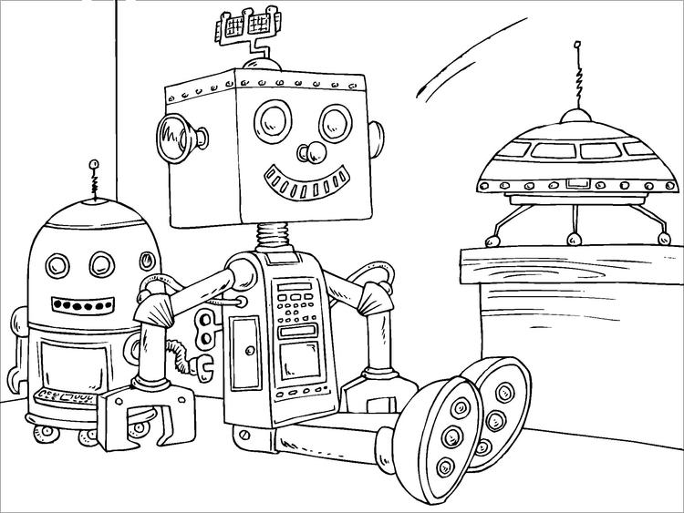 Disegno Da Colorare Robot Giocattolo Cat 22820 Images