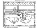 Disegno da colorare rodeo americano