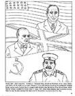 Disegno da colorare Roosevelt, Churchill, Stalin