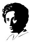 Disegno da colorare Rosa Luxemburg