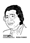 Disegno da colorare Rosa Parks