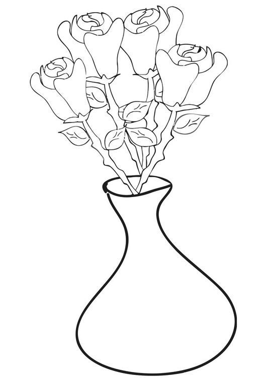 Disegno da colorare rose in vaso cat 21270 for Colorare le rose
