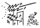Disegno da colorare rumore - studiare