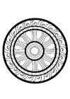 Disegno da colorare ruota dharma
