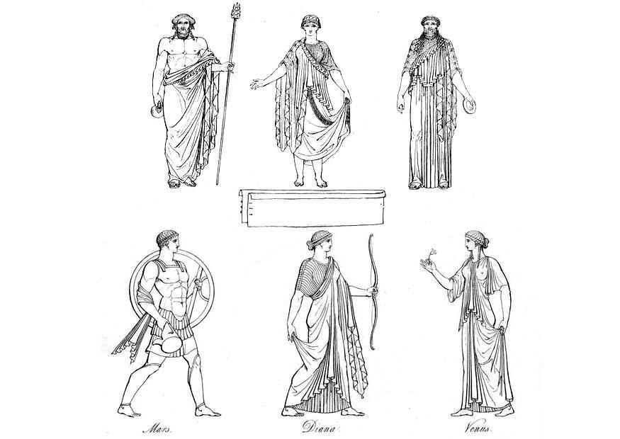 Disegno Da Colorare Sacerdoti E Dei Greci Cat 9429