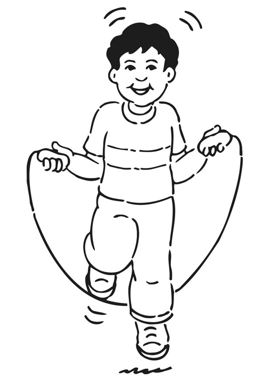 Disegno da colorare saltare la corda cat 20932 for Disegno pagliaccio da colorare