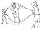 Disegno da colorare saltare la corda