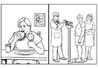 Disegno da colorare salute - alimentazione