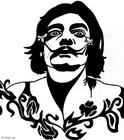 Disegno da colorare Salvador Dali