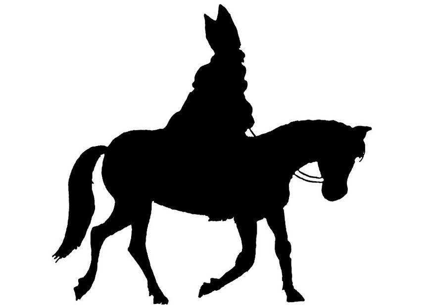 disegno da colorare san nicola a cavallo disegni da