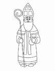 Disegno da colorare San Nicola