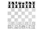 Disegno da colorare scacchi