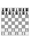 Disegno da colorare scacchiera