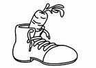 Disegno da colorare scarpa per San Nicola