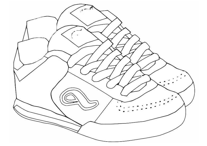 scarpe disegni da colorare