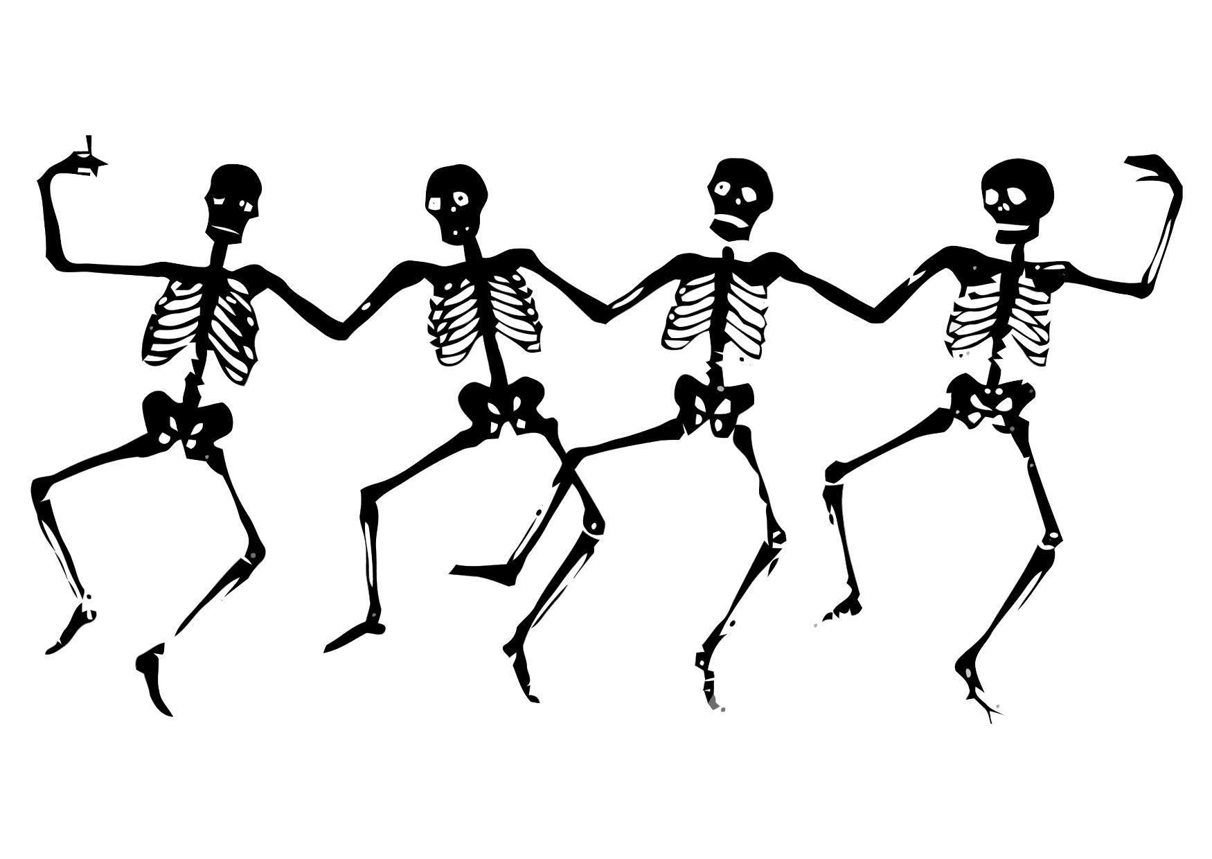 Disegno da colorare scheletri ballerini cat 11310 for Scarica clipart
