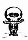 Disegno da colorare scheletro