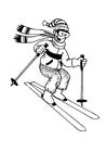 Disegno da colorare sciare