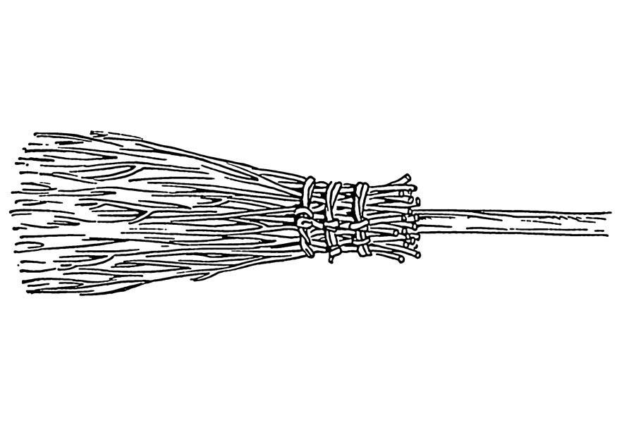 Disegno da colorare scopa cat 19126 - Coloriage balai ...