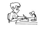 Disegno da colorare scrivere - compiti