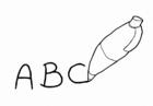 Disegno da colorare scrivere