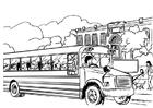 Disegno da colorare scuola bus