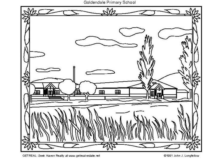 Disegno Da Colorare Scuola Primaria Americana Cat 5755 Images