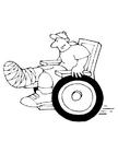 Disegno da colorare sedia a rotelle