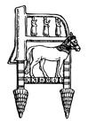 Disegno da colorare sedia assiriana