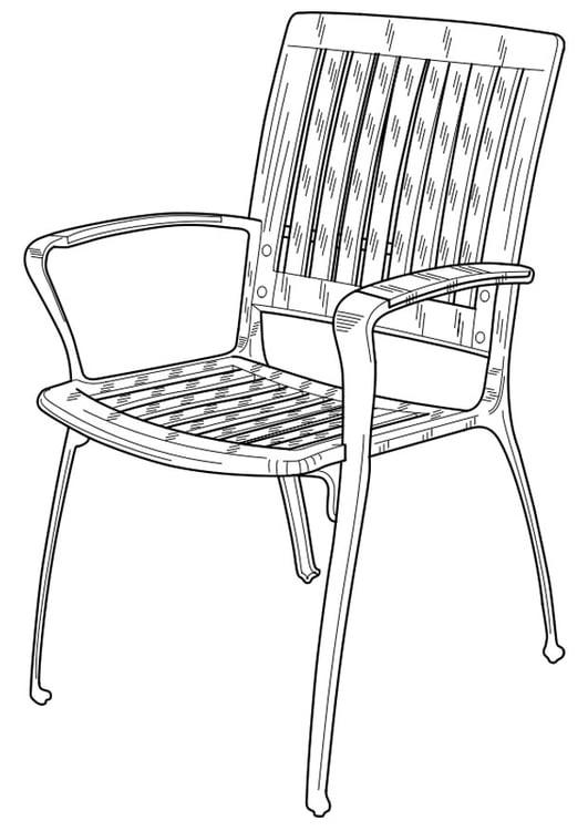 Disegno da colorare sedia da giardino cat 19102 for Disegno giardino da colorare