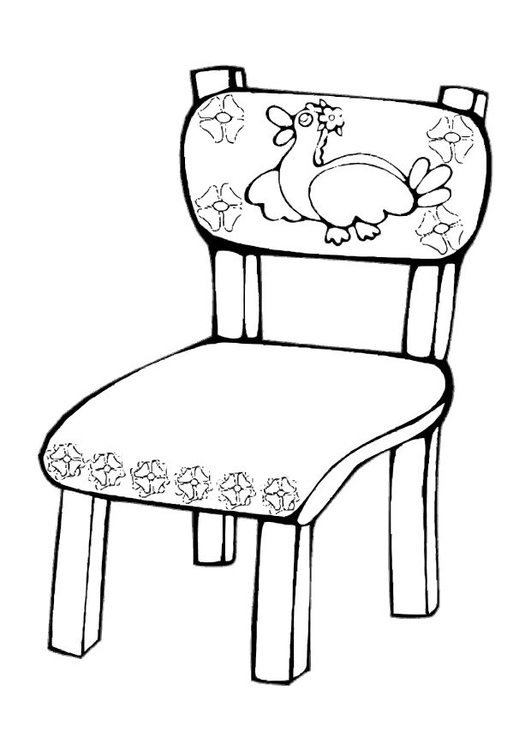 Disegno da colorare sedia cat 10619 - Sedia a dondolo disegno ...