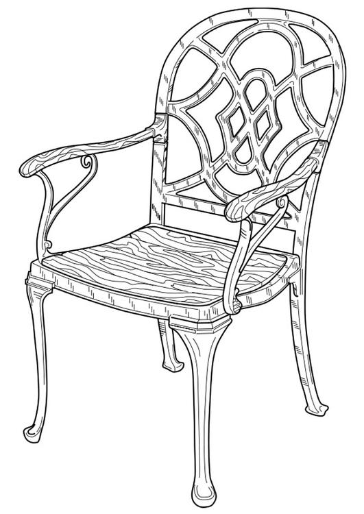 Disegno da colorare sedia cat 19101 - Sedia a dondolo disegno ...