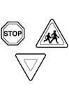 Disegno da colorare segnaletica stradale