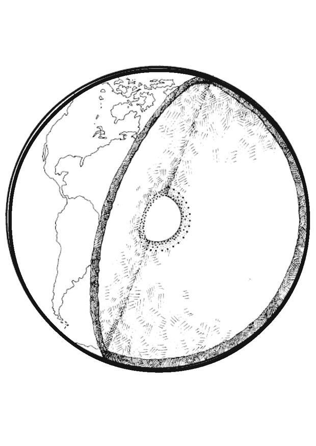 Disegno da colorare sezione della terra cat 15638 - Immagine da colorare della terra ...