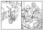 Disegno da colorare sicurezza in bici