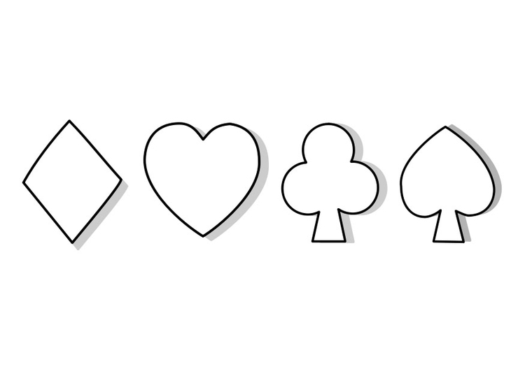 Fabuleux Disegno da colorare simboli carte da gioco - Cat. 22741. VI22