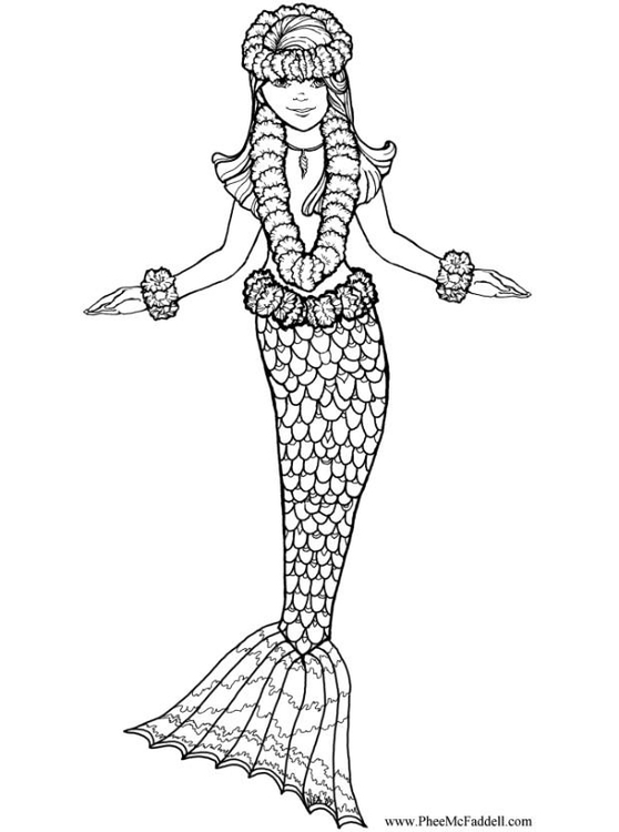 Disegno da colorare sirena cat 6882 - Sirena libro da colorare ...