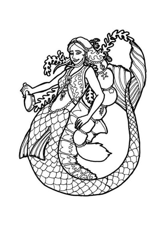 Disegno Da Colorare Sirena Cat 7176