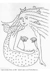 Disegno da colorare sirena