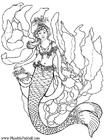 Disegno da colorare sirena sott'acqua