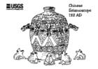 Disegno da colorare sismografo cinese 132 DC
