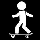 Disegno da colorare skateboard