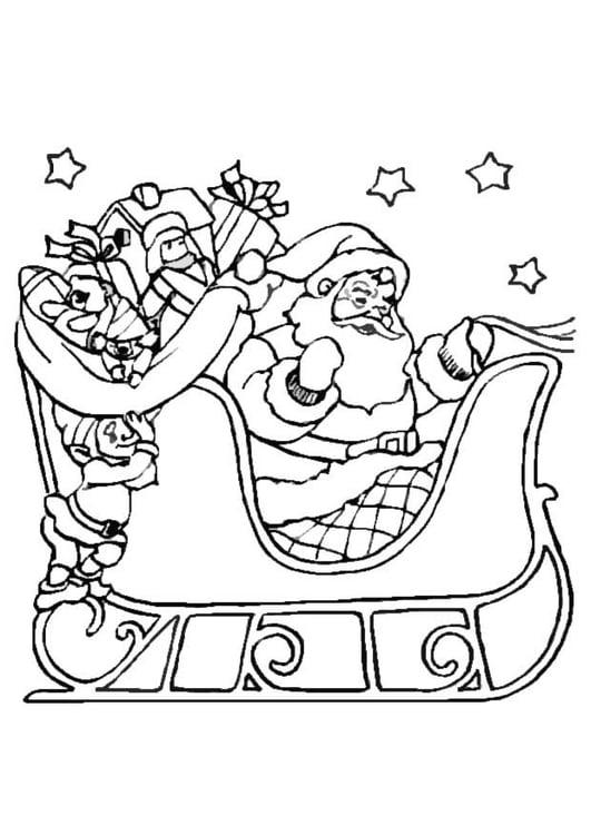 Disegno Da Colorare Slitta Di Natale Cat 16463